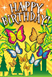 butterfly birthday card png