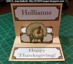 ez3d pop ups thanksgiving turkey pop up place card