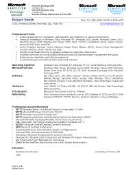 mcse resume sample resume cv cover letter