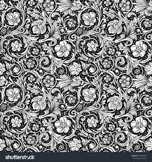black white ornamental seamless vector pattern stock vector