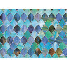 Peacock Home Decor Brewster 47 In X 24 In Peacock Premium Window Film Pf0702 The