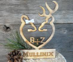 buck and doe cake topper oh deer personalized browning style buck doe wedding cake