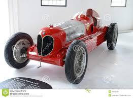 vintage alfa romeo race cars alfa romeo bi motore monoposto racing car editorial stock image