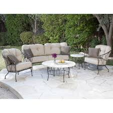 Backyard Collections Patio Furniture by Medina 5 Piece Patio Cuddle Chat Collection