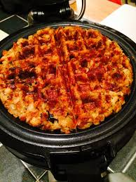 thanksgiving leftovers crispy waffles covered in a