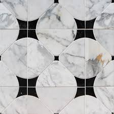 Statuario Marble Bathroom Shop For Highland Floret Black And Statuario Marble Tiles At