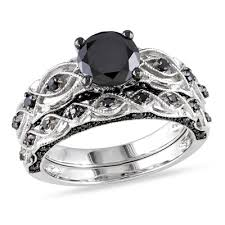 black engagement ring set black engagement rings 2017 wedding ideas magazine weddings