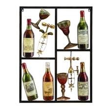 Wine Glass Wall Decor Bottles And Glasses Metal Wall Decor Free Shipping Today