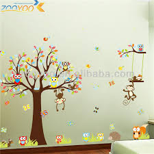 stickers arbre chambre enfant sticker chambre bebe toise sticker original hibou stickers