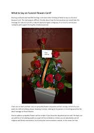 funeral flower etiquette what to say on funeral flowers card