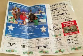 round table pizza roseburg oregon monthly mailbox ad includes coupons and specials picture of round