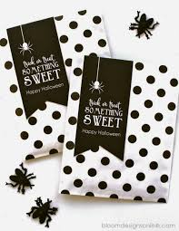 free halloween gift tags trick or treat something sweet bloom designs