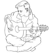 25 free printable guitar coloring pages