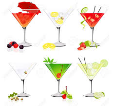 margarita glass cartoon cocktail glass stock vector vector wine and cocktail glasses