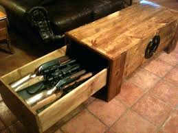 coffee table with hidden gun storage plans coffee table gun cabinet coffee drinker