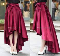high waisted skirt 2018 fashion burgundy high low women skirts high waisted ruched