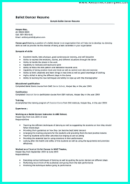 Dance Resume Template Dancer Resumes With Education Http Topresume Info The Secrets Of