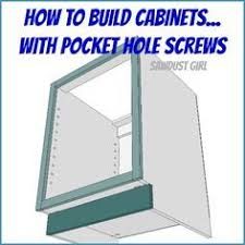 diy kitchen cabinets kreg how to build a cabinet with pocket screws sawdust