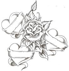 rose with hearts drawing ideas pinterest rose tattoo and tatoos