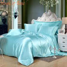Silk Comforters Sheet 9 Picture More Detailed Picture About Luxury Sky Blue Silk