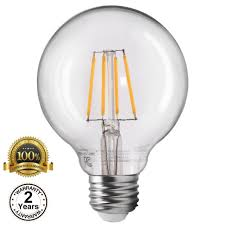 torchstar dimmable led g25 vintage filament light bulb 4 5w 40w