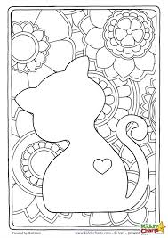 free cat mindful coloring pages kids u0026 adults mindful cat