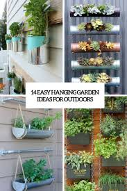 picture hanging ideas 18 easy hanging gardens ideas for outdoors shelterness