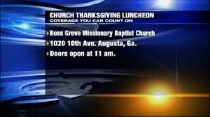 local church providing free thanksgiving meal for the community