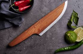 handmade kitchen knives skid a unique wooden chef knife trendland
