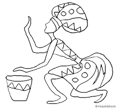 woman with drum coloring page coloringcrew com