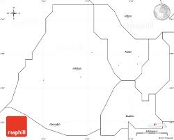 blank simple map of ikeja