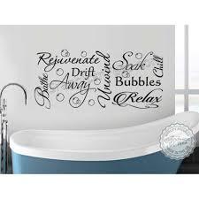 bathroom wall sticker montage word art collage vinyl decor decal