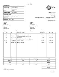 invoice template sample invoice invoice