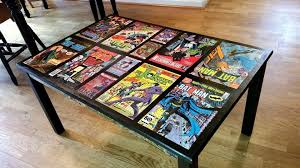 themed coffee tables a buddy of mine put together a comic themed coffee table for his