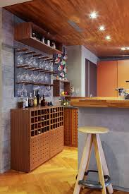 wall mounted wine racks in home bar contemporary with glass