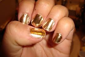gold metallic nails bornprettystore com review youtube