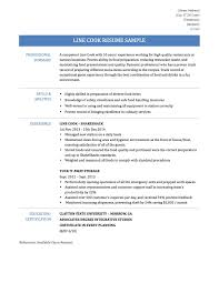 Resume Skills And Abilities Line Cook Resume Skills Resume For Your Job Application