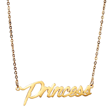 princess necklace images Aoloshow name quot princess quot women personalized gold nameplate jpg
