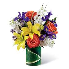 cheap flowers free delivery tropical yellow bouquet at send flowers