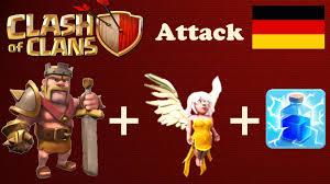 clash of clans wallpaper hd clash of clans only barbarian king healers attack german