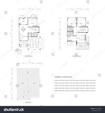 floor plans drawing architecture plan drawing design house plans stock illustration
