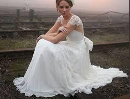 bohemian brautkleid brautkleid bohemian white lace v neck bridal gowns with cap