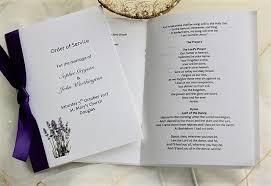 Wedding Ceremony Pamphlets Wedding Order Of Service Order Of Service For Weddings From 50p