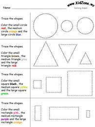 geometric shape counting and tracing square printable