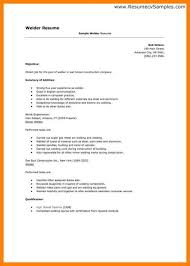 exle cover letters for resume welder resume template 9 welding exles standart gallery thus