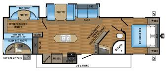 Travel Trailers With Bunk Beds Floor Plans 2017 Jay Flight Travel Trailer Floorplans U0026 Prices Jayco Inc