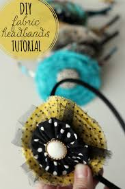 fabric headbands fabric flower headband tutorial