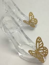 glass slipper party favor cinderella party favors cinderella glass slipper and gold