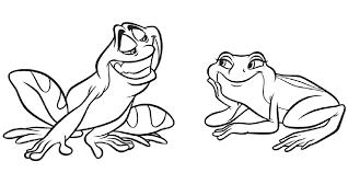 princess u0026 frog coloring pages