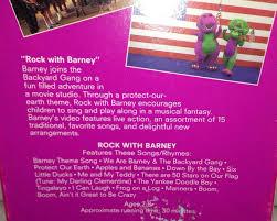 barney vhs sing along lot of 2 rock with barney barney u0027s birthday